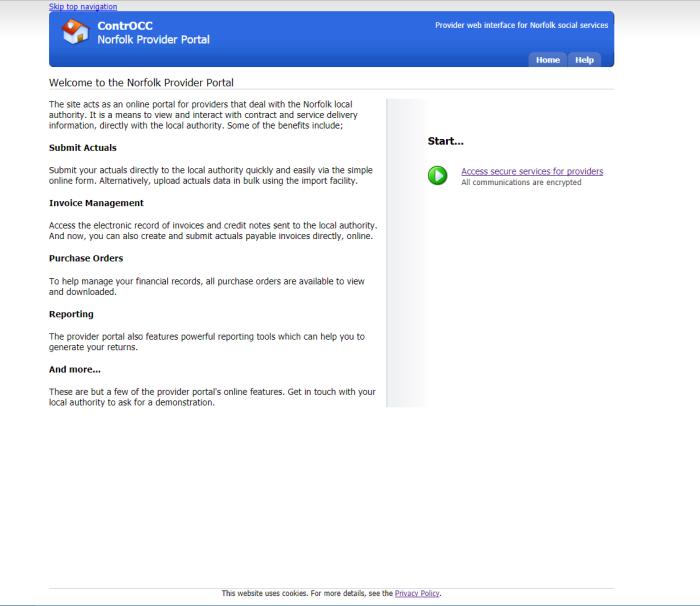 Provider Portal Test Page