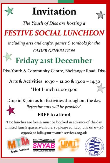 Festive Social Lunch december 2018 sn