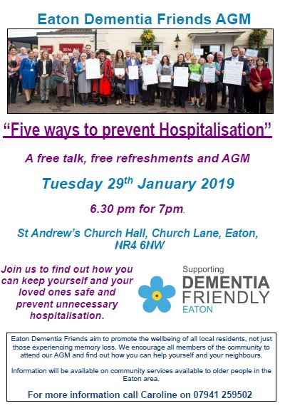 eaton dementia friends agm poster 15.1.19