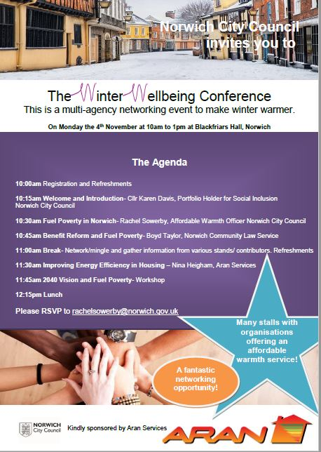 Norwich City Council winter wellbeing seminar 4.11.19
